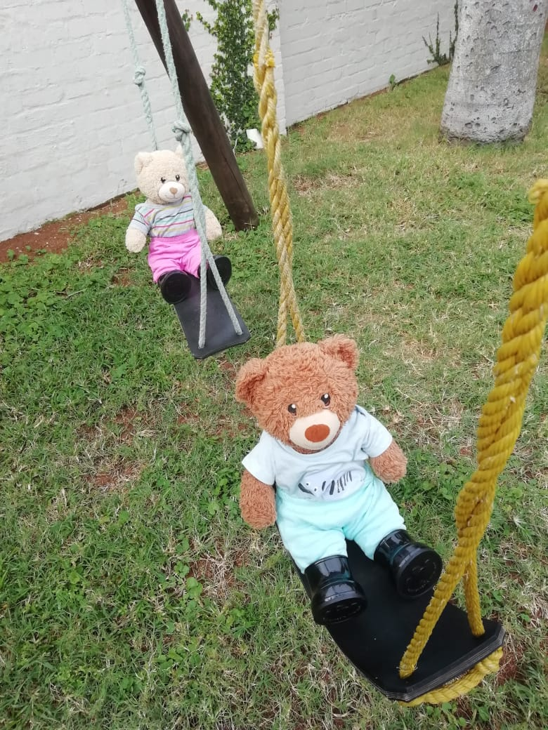 There was even time for a swing before it was their turn to see the dentist