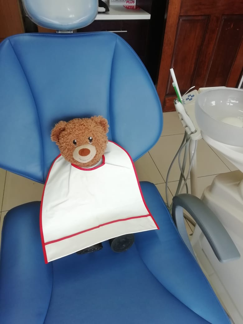 Stone in the dentist chair. He loved having his teeth cleaned